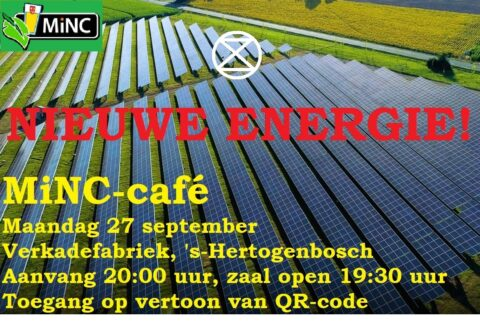 MiNC-café maandag 27 september: Nieuwe energie!